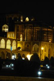 Esfahan, Meidan-e Imam, Ali-Qapu Palace by Night