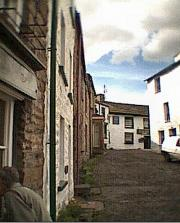 Dent - cobbled street to the Sun Inn.