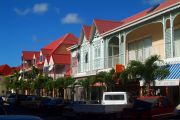Bright colours of Marigot's centre