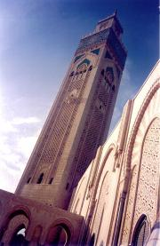 Casablancas huge Mosque Tower