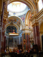 Inside of Malta's Cathedral in Mdina