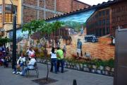 Street Art in the center of Medellín between library and train station.