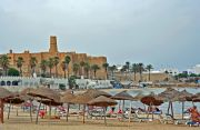 Monastir Town Beach with the Ribat in the background.