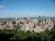 View of the city from the Chalet Mont Royal lookout.