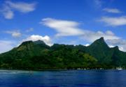 Leaving the beautiful island of Moorea on the ferry for Tahiti.