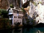 Blagaj, the old villa by the river.