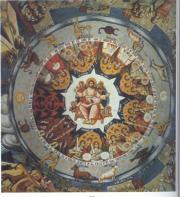 Fresco in Megistis Lavras representing the eight angelic orders