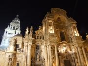 Murcia's cathedral at night