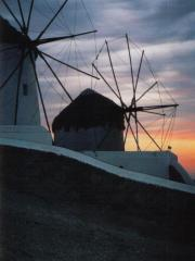 Sunset & windmills