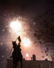 Fireworks for Saint Nicolas, in Old City
