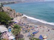 Looking down on Playa Calahonda from Cafe Albi.