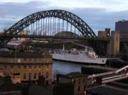 Tyne Bridge and Tuxedo Princess nightclub