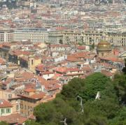 Vieux Nice as seen from Parc le Chateau