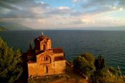 The church of St Jovan, at sunset.