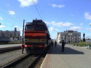 The Berlin-Moscow train arriving in Orsha station.