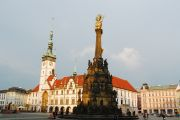 The Upper Square with the Holy Trinity Column in Olomouc