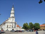 Kaunas market square with town hall
