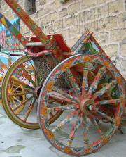 Traditional hand-painted carts in Palermo