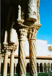 Detail of cloisters, Monreale