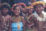 Chamorro children in Agana, Guam capital