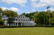The 'White House' the official residence of the President of Suriname, although not his office.
