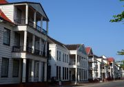 The Waterfront wooden mansions.