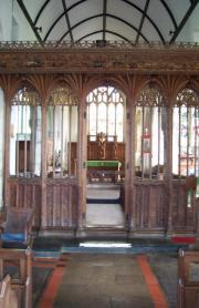 Rood screen at St Buryan