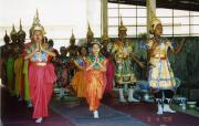 Traditional dancing at temple