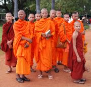 The monks in Angkor