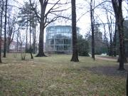 The glass enclosure in Winter
