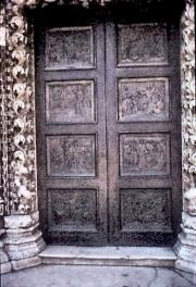 Door carving at the Cathedral, Sibenik