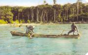 Jarawa men fishing