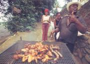 Tourists go to the restaurants, but Rodrigues people love to prepare barbecue