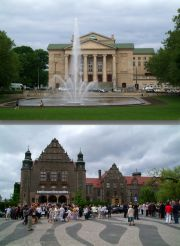 Upper: Poznań Opera House. Lower: A.Mickiewicz University.