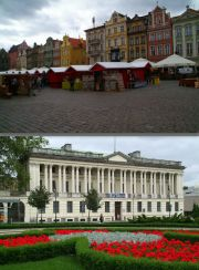 Upper: St John Market booths. Lower: The Raczynski Library.