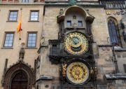 The famous clock at the old townhall.