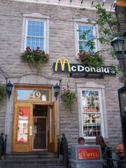 a charming looking Macdonald restaurant. Fast food in style