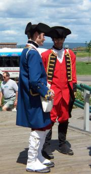 At many of the Tourist Attractions, the guides are costumed