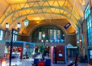 Inside the Palace Train Station of Quebec City.