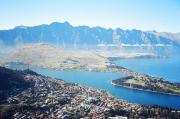 View of Queenstown from Skyline Gondola Restaurant