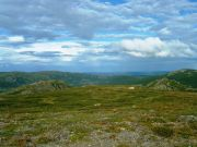 View from Store Syningen Mountain in Valdres. The valley below is Bjødal Valley.
