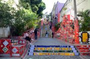 Colourful stairway in the Lapa district.