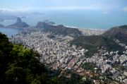 Rio de Janeiro viewed from the Corcovado Hill.