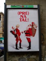 Amusing add for an Italian maternity shop at Christmastime