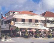 Marigot and the restaurant where LIAT invited me to dine