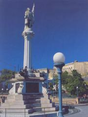 Monument to the discoverer Columbus in San Juan (Puerto Rico)