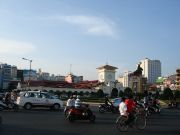 Ben Thanh Market on the busy intersection