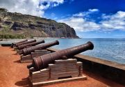 Cannons on the ocean front