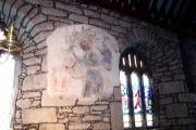 St George fresco - St Just Church