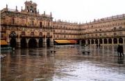 Plaza Mayor, Salamanca - rained out